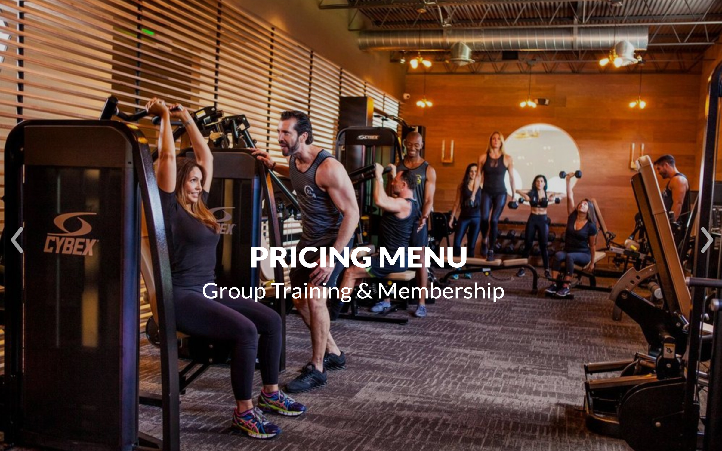 G21 Fitness Pricing Menu